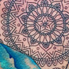 Mandala watercolor stingray